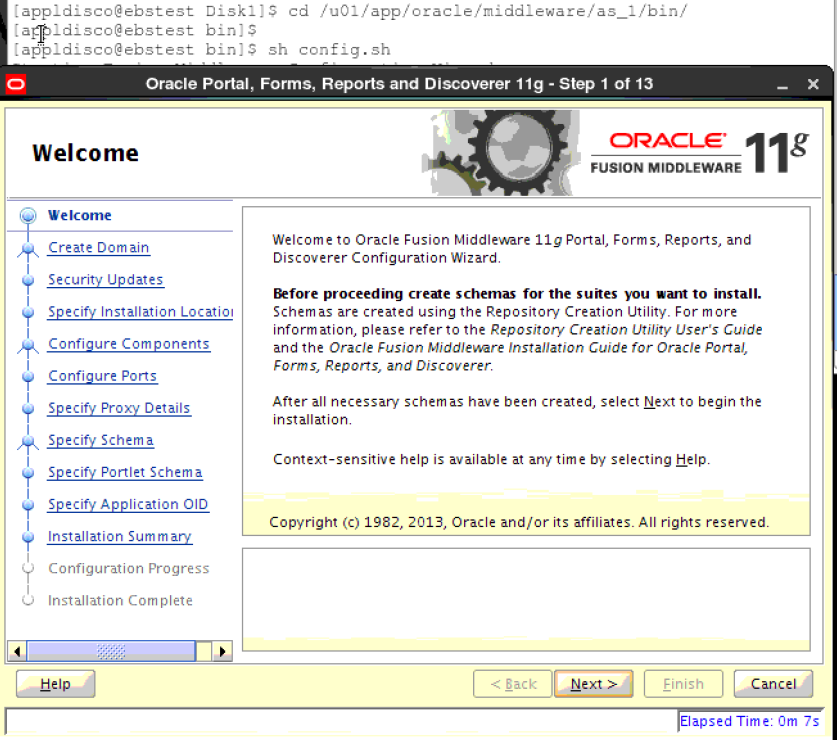 Oracle Business Intelligence Discoverer 11 1 1 7 installation and
