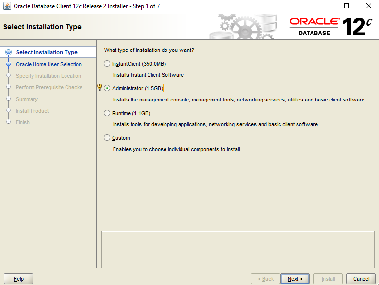 Step by Step Installation of the Oracle 12c Client for Windows | IT