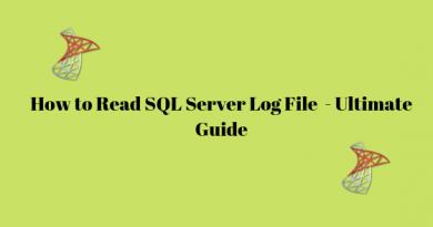 read SQL Log file
