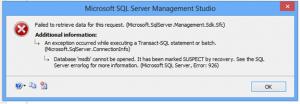 Microsoft SQL Server Error 926