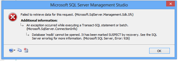 Microsoft SQL Server Error 926