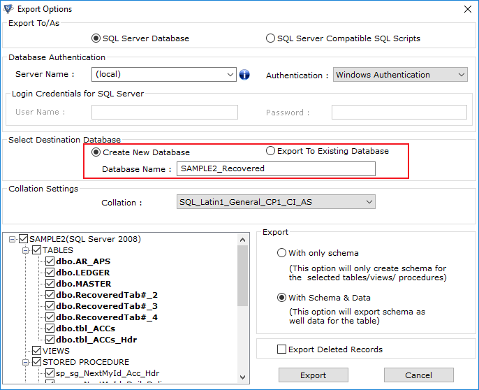 Restore SQL Server Database to New Database