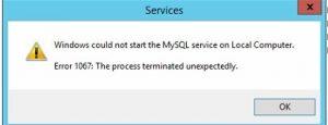 error 1067 in sql server